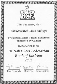 Certificate: BCF Book of the Year 2002